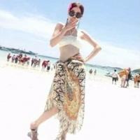 May shop diamond geometric retro swimsuit cover totem border beach towel