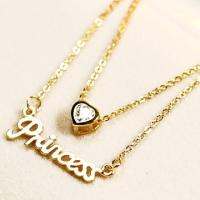 (太妃糖)Aristocratic palace delicate toffee simple necklace