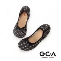 (GOA)GOA dot folding doll shoes - black white point