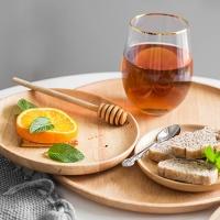 (Homely Zakka)[Homely Zakka] Wood Fun Food Acacia Wood Round Dim Sum / Plate (Dayuan 20*20)