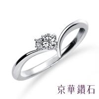 "(emperor diamond)Jinghua Diamond-Diamond Ring 18K White Gold Diamond Total Weight 0.14 Carat ""Love Star"""