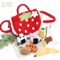 (Mother Garden)Mother Garden Japan Strawberries picnic shoulder bag - fabric