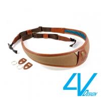 4V ALA Series Camera Strap LU-CV2723- green brown / brown (L)