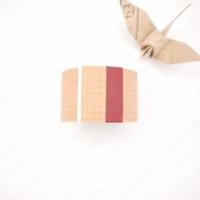 [Japanese original Kurashiki artisan workshop] Inoue Yoko ? ? engraved kraft paper tape [red square eye] 45mm