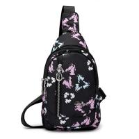 (I.Dear)[I.Dear] Korean cute totem printing lightweight nylon splash-proof chest backpack (BG84 three-leaf flower)