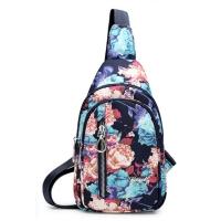 (I.Dear)[I.Dear] Korean cute totem printing lightweight nylon splash-proof chest backpack (BG84 fantasy flower)