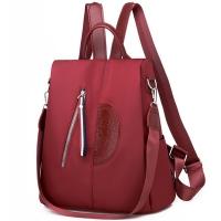 (I.Dear)[I.Dear] Korea multi-function hidden anti-theft zipper stereo totem Oxford cloth shoulder backpack (BG114 red)