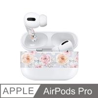 AirPods Pro 耳機機身貼紙-浪漫玫瑰