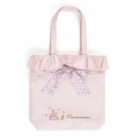 """Mother Rabbit straight flouncing side canvas backpack """"powder"""" shoulder bag. Bag. Sweetheart roses"""