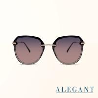 (ALEGANT)[ALEGANT] French romantic pop stitching half frame design flowers and honey sunglasses/UV400 sunglasses