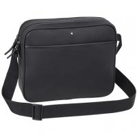 (MONTBLANC)MONTBLANC Montblanc Carbon Fiber Leather Double Zip Crossbody Bag