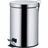 (KELA)KELA Dusty pedal trash can (bright silver 3L)