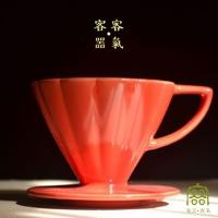 (客噐。客氣)Guest. Kind chrysanthemum long rib filter cup 01 (with handle) _ 大喜 ?