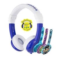(BuddyPHONES)【Buddyphones】 Explore Folding Series Hypoallergenic Child safety Talkable headset Explore Foldable Deep sea blue