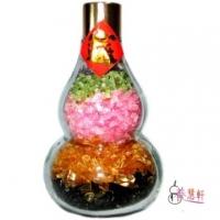 【Yanghuixuan】Natural Five Elements Crystal Gourd Bottle Decoration (about 11 cm high)