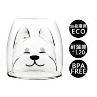 【Trilogy】耐熱雙層玻璃杯_柴犬200ml