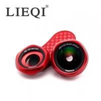 (LIEQI)FUNIPICA rose HD HD non-deformation 0.6X wide-angle lens 15X macro lens LIEQI F-520-red