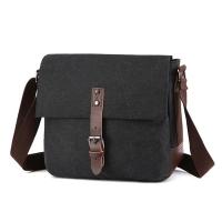 (CAMO)[Pin music. CAMO] Korean popular wild shoulder-slung casual bag (black)