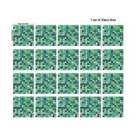 Creative mosaic imitation tile sticker kitchen grease sticker (A)