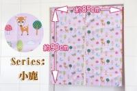 European style cotton short curtain (85x90cm) (fawn)