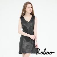 (Zoboo)[] Minimalist Zoboo wide swing dress Slim glossy (Q5013)