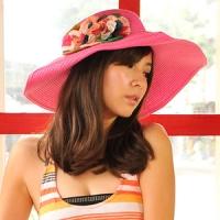 (Aimee Toff)Aimee Toff Jing Yang flower color and wind visor (peach)