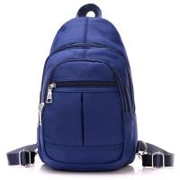 (I.Dear)[I.Dear] Men and women casual washable nylon zipper 3way chest backpack shoulder backpack (BG74 blue)