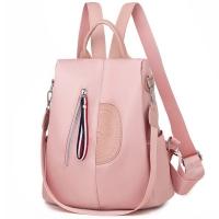 (I.Dear)[I.Dear] Korea multi-function hidden anti-theft zipper stereo totem Oxford cloth shoulder backpack (BG114 pink)