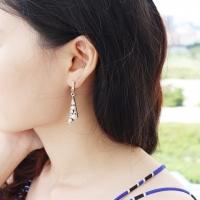 Golden Slash Earring