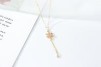 Ivory Pink Stone Necklace