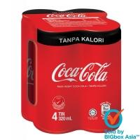 [BUNDLE 24] Coca-Cola Tanpa Kalori 320ml x 4 x 6