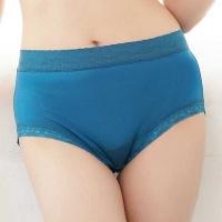 (Chlansilk)??? Comfortable skin-friendly 100% silk panties -88905 (blue)