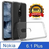 Ultra-efficient transparent drop protection case for Nokia 6.1 Plus