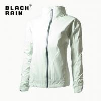 Black Rain [female] hidden hooded waterproof and breathable jacket BR-80070 (Green 226)