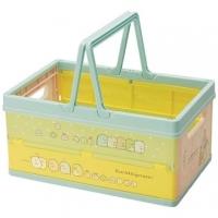 """[Chapel] corner of biological plastic folding storage basket """"light green"""" storage basket. Storage basket toy basket"""