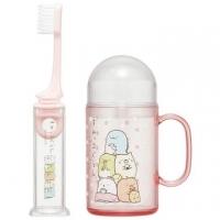 "[Auditorium] Biological corner cup travel toothbrush group ""pink. Little"" folding toothbrush. Toiletries"