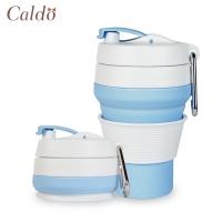 (Caldo)[Caldo Cardo Life] Concave Hiking Camping Silicone Folding Cup 350ml-Blue