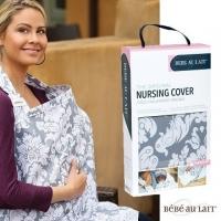 American fashion Bebe Au Lait nursing towel (Chateau silver cotton section)