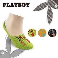 (PLAYBOY)PLAYBOY color block fine needle invisible men's socks