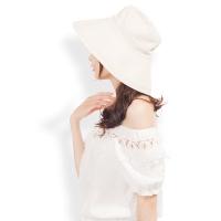 (JAB)JAB solid color elegant wide hat 檐 sunscreen fisherman hat (beige)