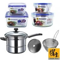 (鍋寶)[Treasure] stainless steel multi-purpose pot glass pot preservation group EO-S435QXB8340B1105Z