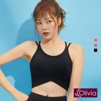 (olivia)[Olivia] Yoga without U-shaped U-shaped lightweight sports underwear-black