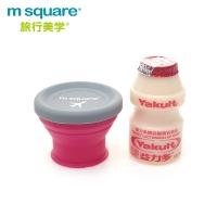 (m square)m square Folding Silicone Bowl S-Peach