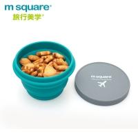 (m square)m square Foldable Silicone Bowl M-Blue