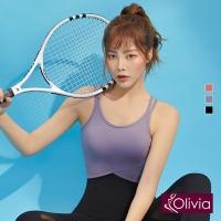 (olivia)[Olivia] Yoga without U-shaped U-shaped lightweight sports underwear-purple