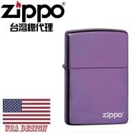 (zippo)ZIPPO High Polish Purple Zippo Logo Dazzle Purple Windproof Lighter