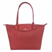 (longchamp)LONGCHAMP Le Pliage Neo Long Folded Dumpling Bag (Small / Red)