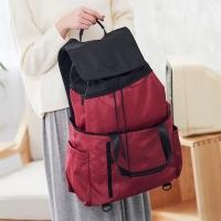 (HanaBene)[HanaBene] TWINS double backpack (Burgundy red / Wen Qinglan / shale gray)