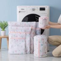 Natural printing anti-winding laundry bag / storage bag (set of 6) -Small tree (free PEVA coat moisture-proof dust cover 2)