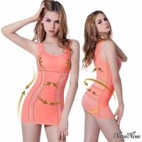 (Naya Nina)Naya Nina double arc push plastic. Strengthening waist Long broad shoulders girly M-XXL (powder)